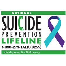 suicide prevention lifeline.
